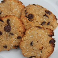 Coconut and Chocolate Chip Cookies (Coconut Flour)
