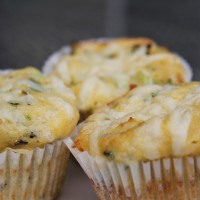 Cheese, Chive and Onion Muffin (Coconut Flour)