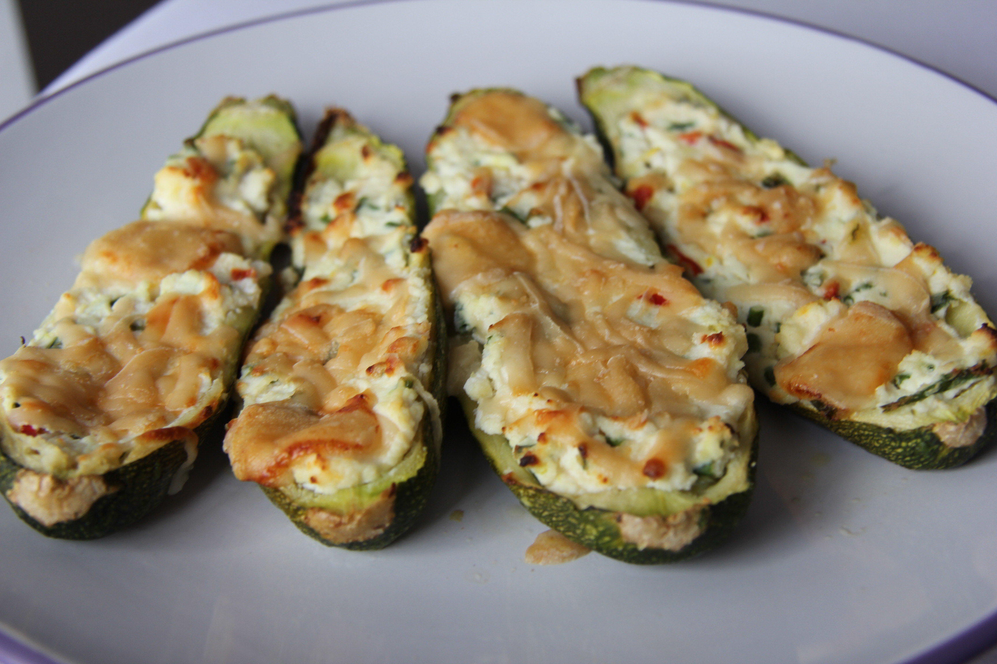 Baked Ricotta Stuffed Courgettes (Zucchini) | Divalicious Recipes