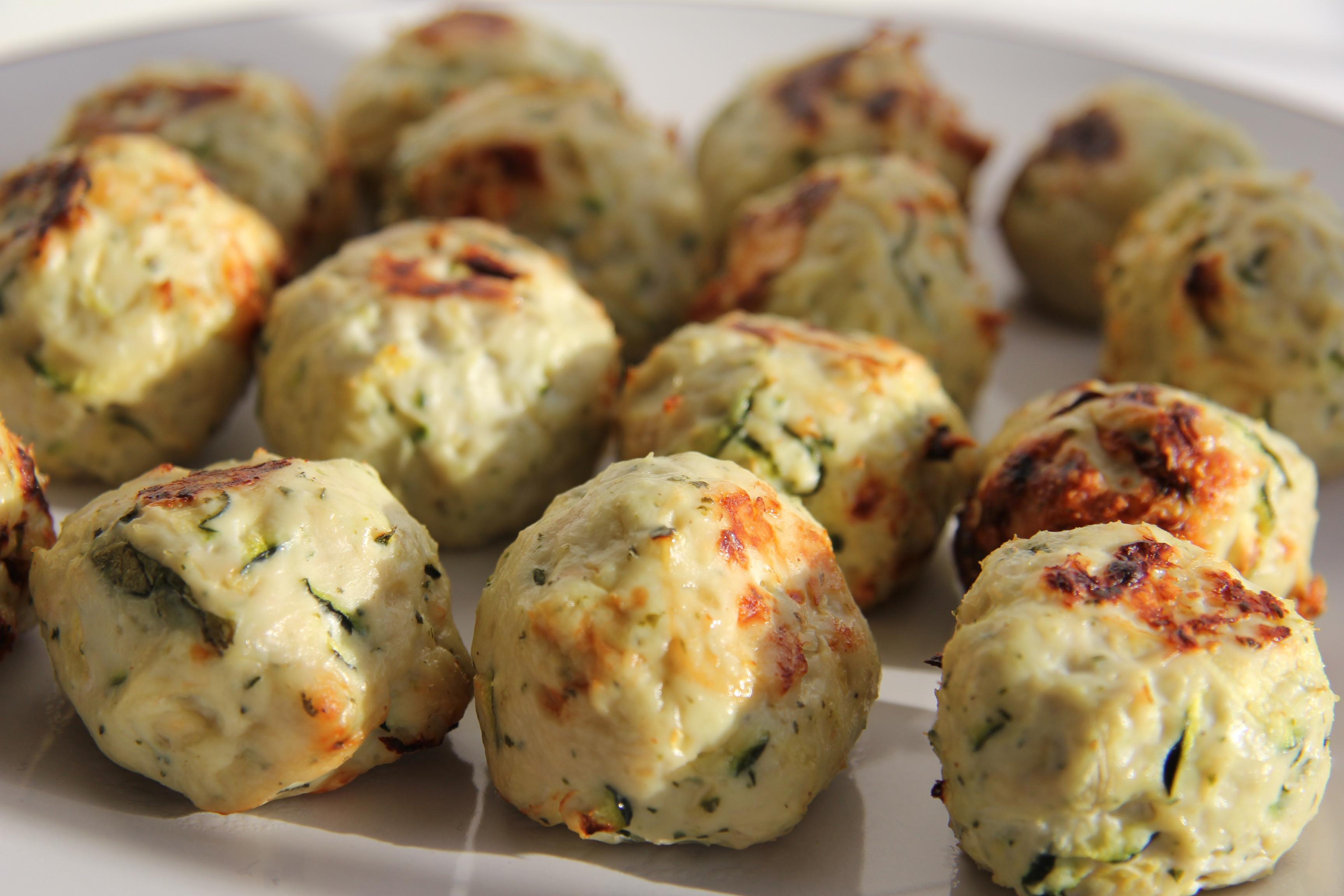 Kolokythokeftedes (Zucchini And Feta Balls) Recipes — Dishmaps