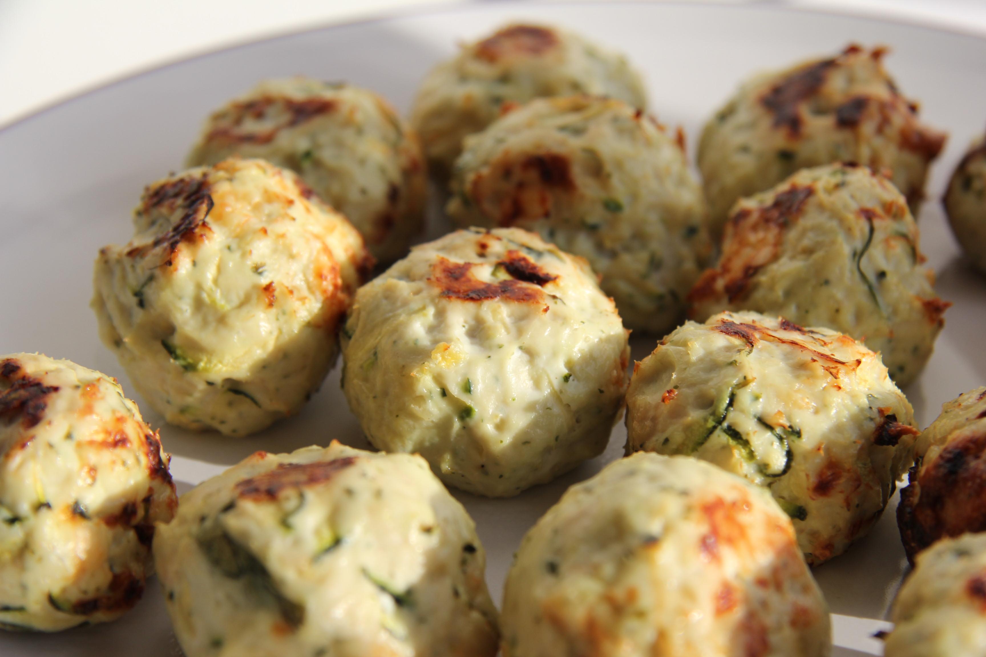Chicken, Zucchini and Feta Balls | Divalicious Recipes
