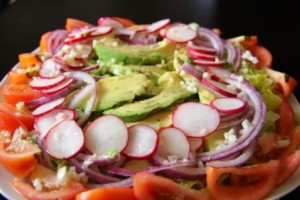 A colourful salad